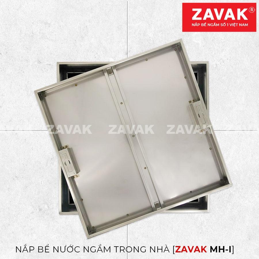 Nắp bể nước ngầm âm sàn inox Zavak MHI45 trên thẳng