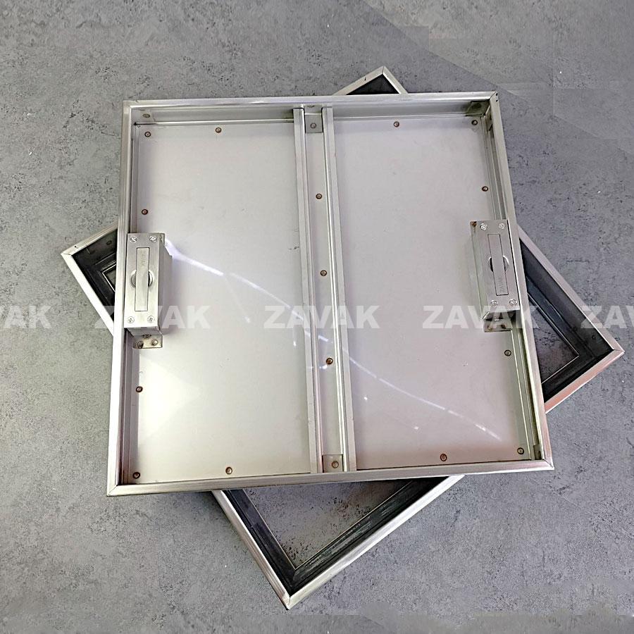 Nắp bể nước ngầm âm sàn inox Zavak MHI45 góc trên