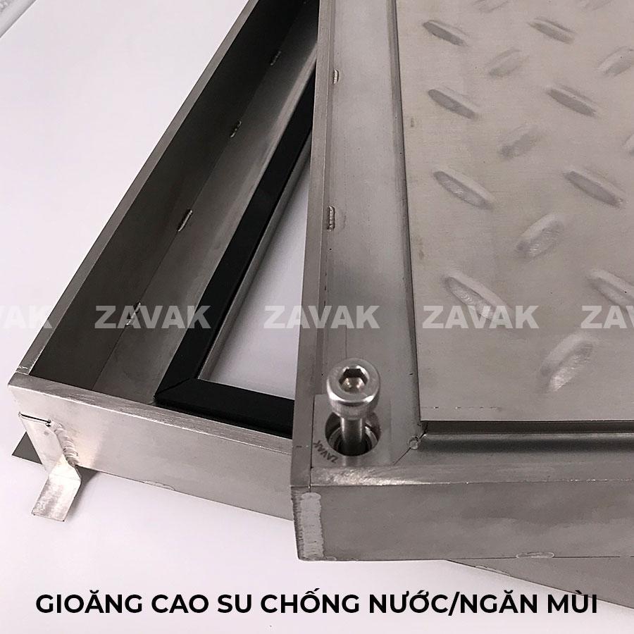 Gioăng cao su chống nước chống mùi cuarnawps bể ngầm inox âm sàn Zavak