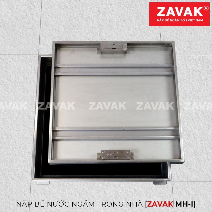 Nắp bể nước ngầm trong nhà Zavak MH-I50, Inox 304, Nắp âm sàn lát gạch KT 50x50cm