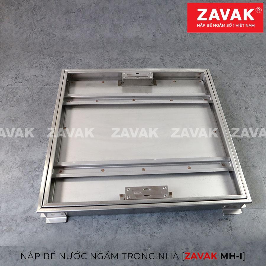 Nắp bể nước ngầm trong nhà Zavak MH-I50, Inox 304, Nắp âm sàn lát gạch kích thước 50x50cm