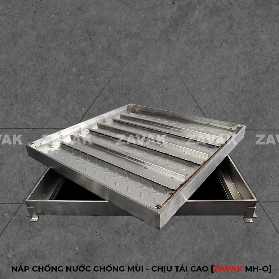 Nắp bể ngầm âm sàn inox, nắp hố ga inox chống mùi chịu tải cao ZAVAK MHO 60x60cm