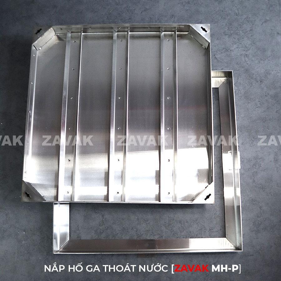 Nắp hố ga thoát nước bằng inox304 zavak mhp kích thước 60x60cm