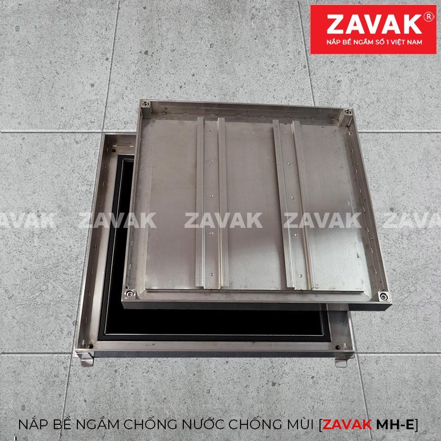 MHE-Nắp bể nước ngầm chống nước mưa, nắp hố ga chống mùi inox ZAVAK. kích thước 45x45cm