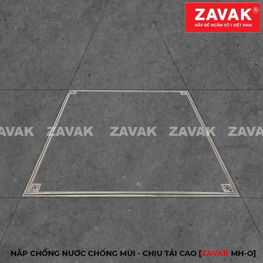 Nắp bể ngầm âm sàn inox, nắp hố ga inox chống mùi chịu tải cao ZAVAK MHO