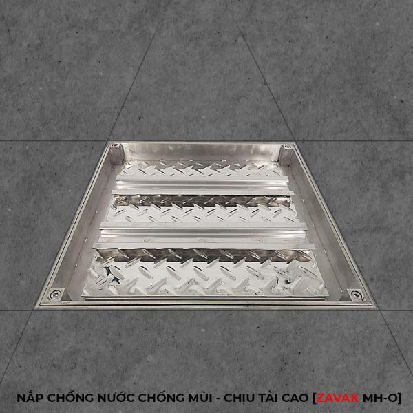 Nắp bể ngầm âm sàn inox, nắp hố ga inox chống mùi chịu tải cao ZAVAK MHO 50x50cm