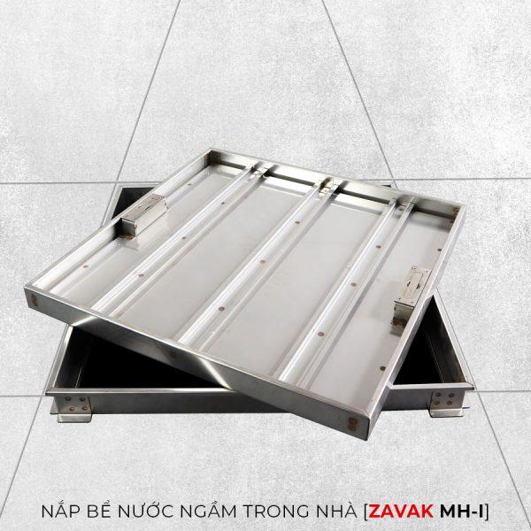 Nắp thăm bể ngầm zavak mh-I60. khung inix 304.Nắp lát gạch kích thước 60x60cm