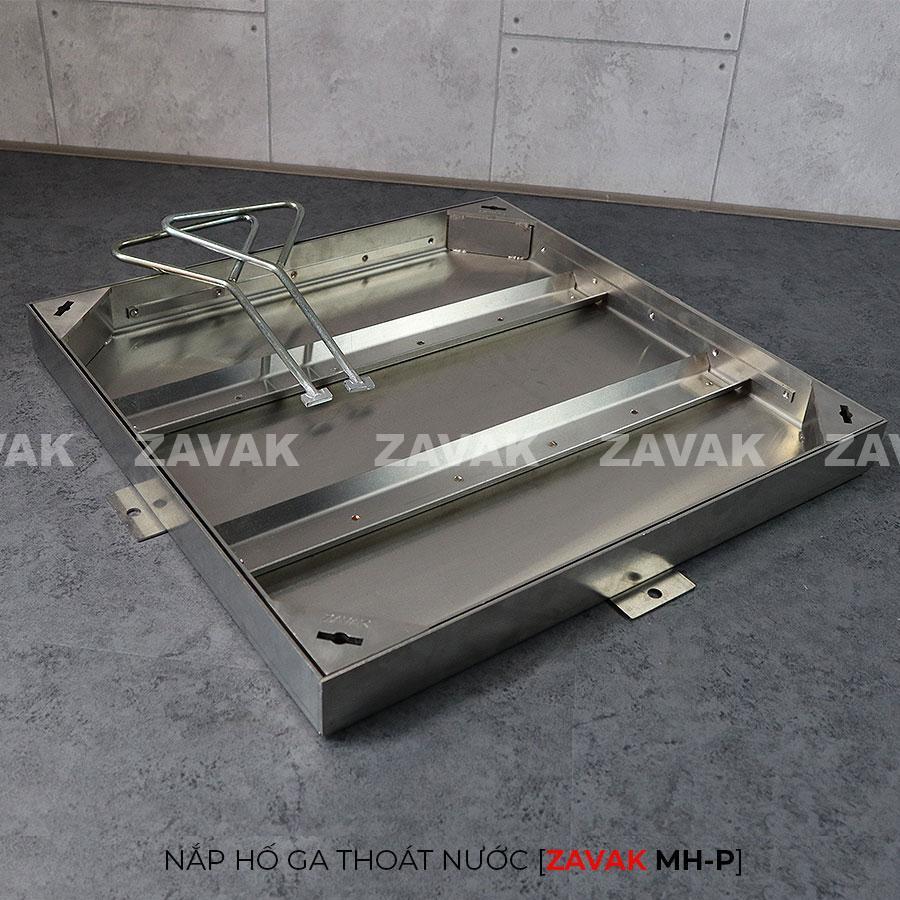 Khung inox Nắp hố ga thoát nước mưa Zavak MH-P lát gạch kích thước 50x50