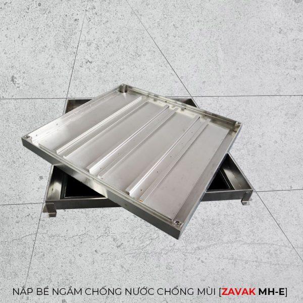khung Nắp bể nước ngầm chống nước mưa nắp hố ga chống mùi hôi inox Zavak MH-E60. kích thước lát gạch 60x60cm
