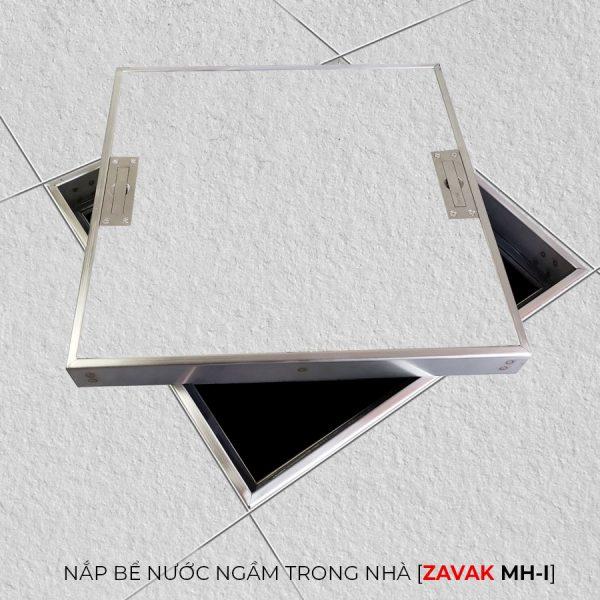 Nắp bể nước ngầm âm sàn inox Zavak MHI . Khung cao 5cm