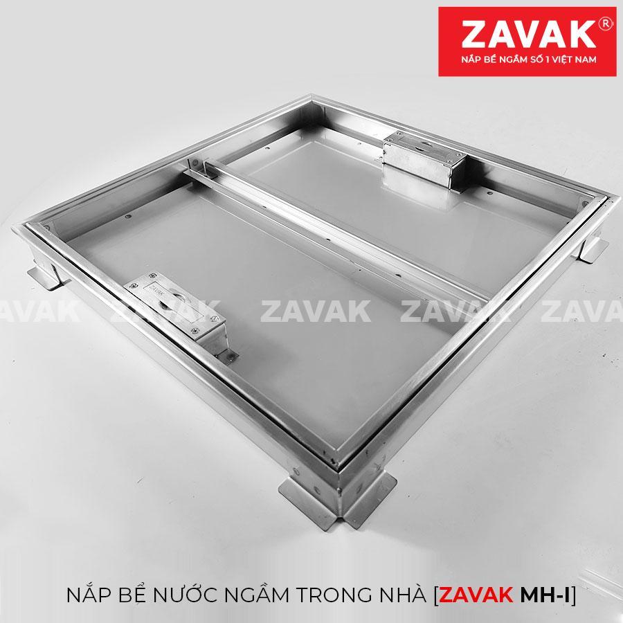 Nắp bể nước ngầm âm sàn inox Zavak MHI45 góc nghiêng