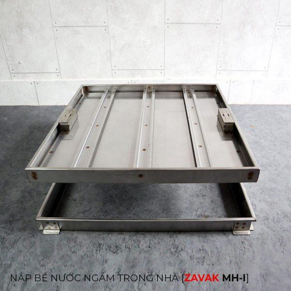 Nắp bể nước ngầm inox Zavak MHI60. Nắp âm sàn KT gạch lát 60x60cm