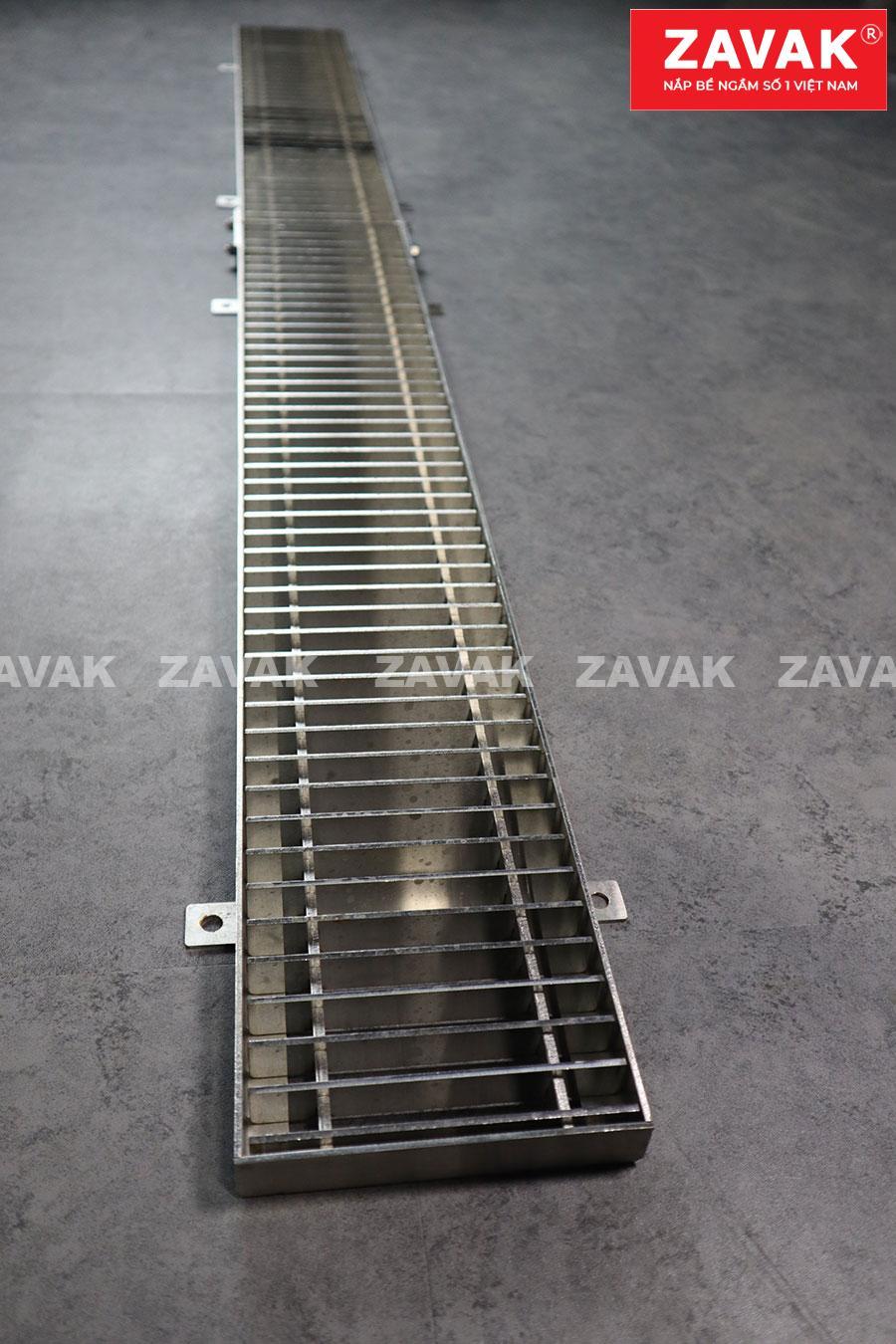 Mương Rãnh thoát nước tầng hầm, mương thu thoát nước gara inox Zavak grating