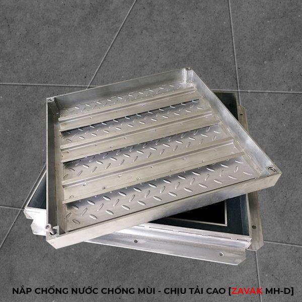 nắp thăm bể nước, nắp bể ngầm âm sàn inox, nắp hố ga inox chống nước chống mùi chịu tải cao ZAVAK MHD