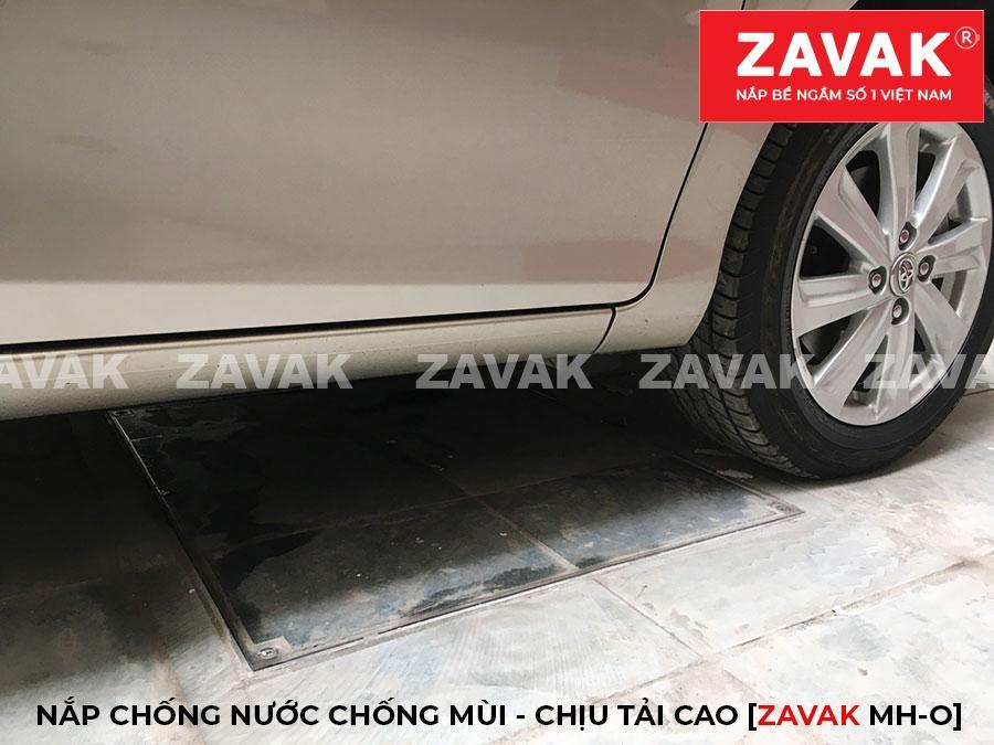 Nắp bể nước ngầm inox âm sàn inox, nắp hố ga chống mùi chịu tải cao cho xe 7 chỗ ZAVAK MHO