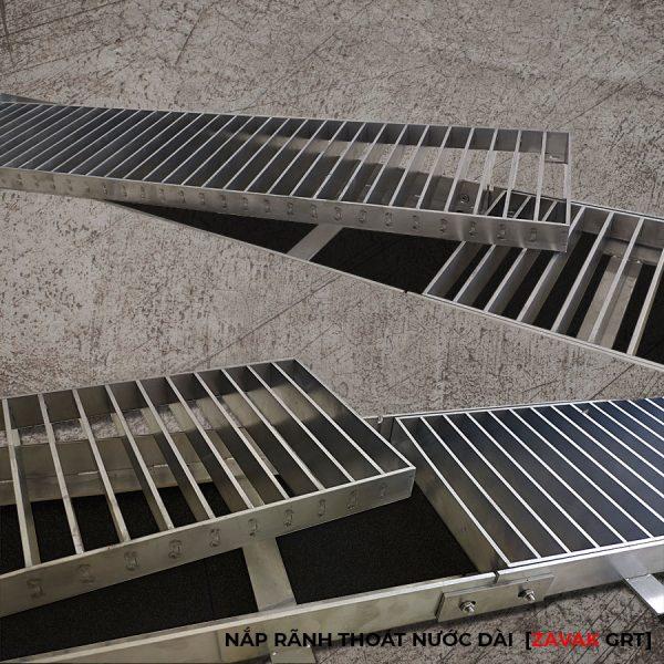Nắp Rãnh thoát nước tầng hầm, mương thu thoát nước gara inox Zavak grating
