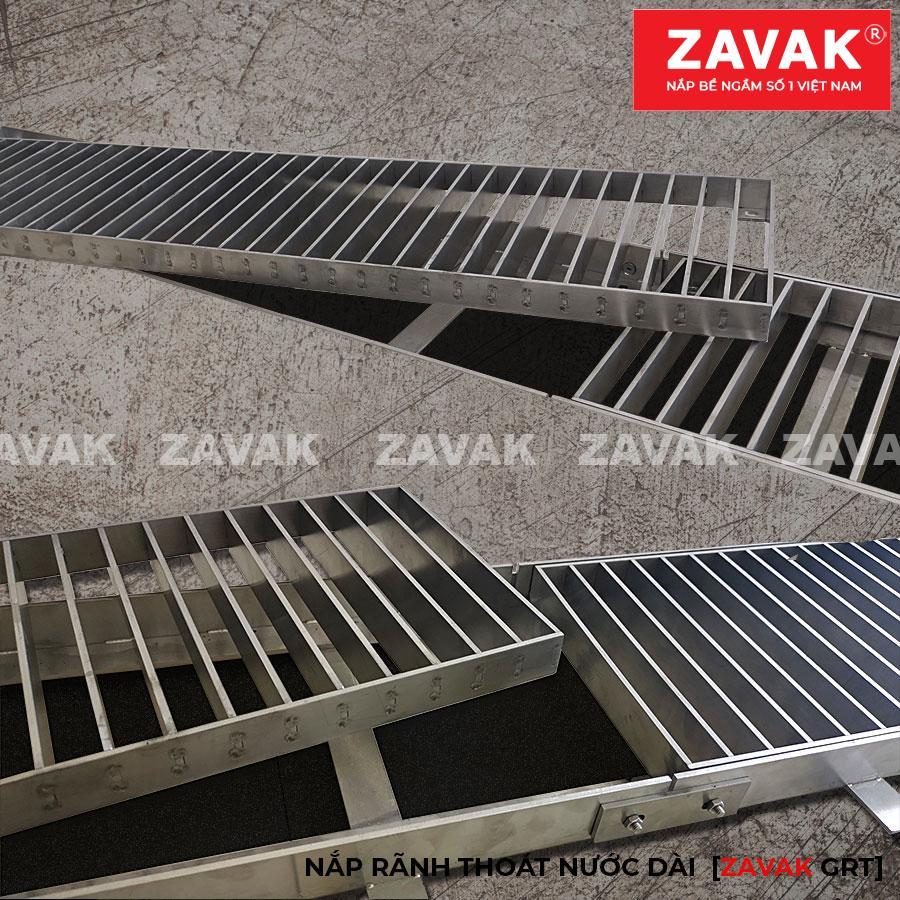 Rãnh thoát nước tầng hầm, mương thu thoát nước gara inox Zavak grating