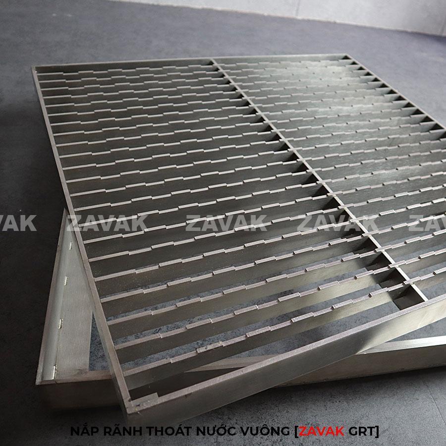 Nắp rãnh thoát nước grating, mương thu nước inox Zavak GRT