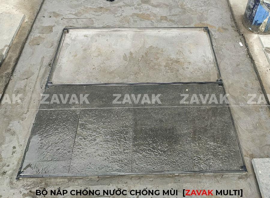 Bộ nắp bể inox Zavak kích thước lớn, Nắp bể cân bằng hồ bơi, nắp bể kỹ thuật, nắp bể cá koi