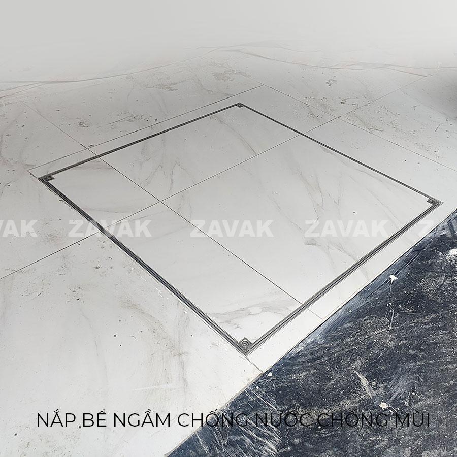 Nắp bể nước ngầm chống nước mưa, nắp hố ga chống mùi inox ZAVAK