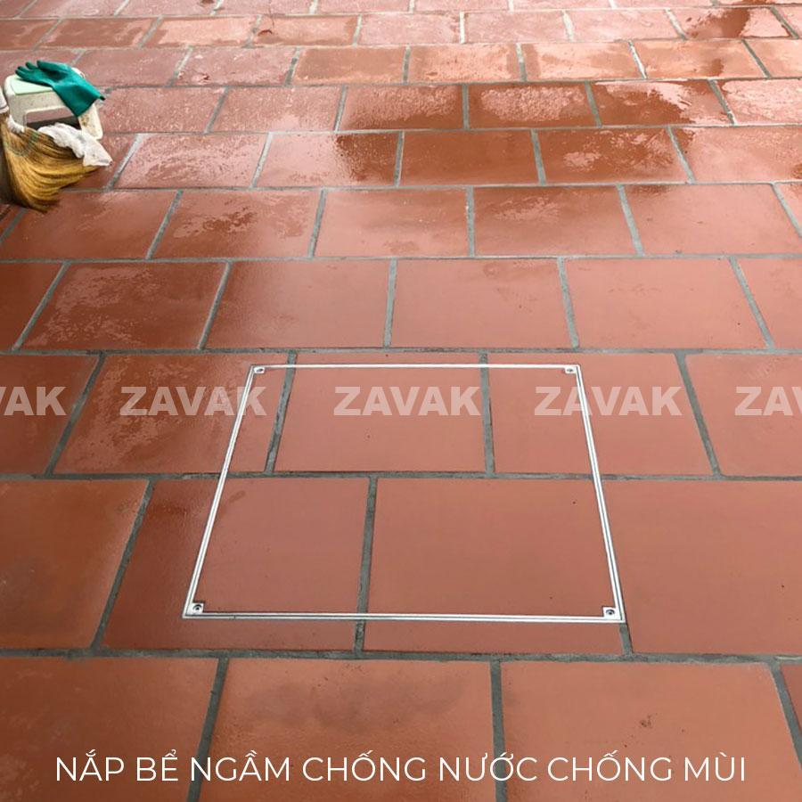 Lắp đặt Nắp bể ngầm Zavak chống nước ngăn mùi bằng inox 304 chống gỉ