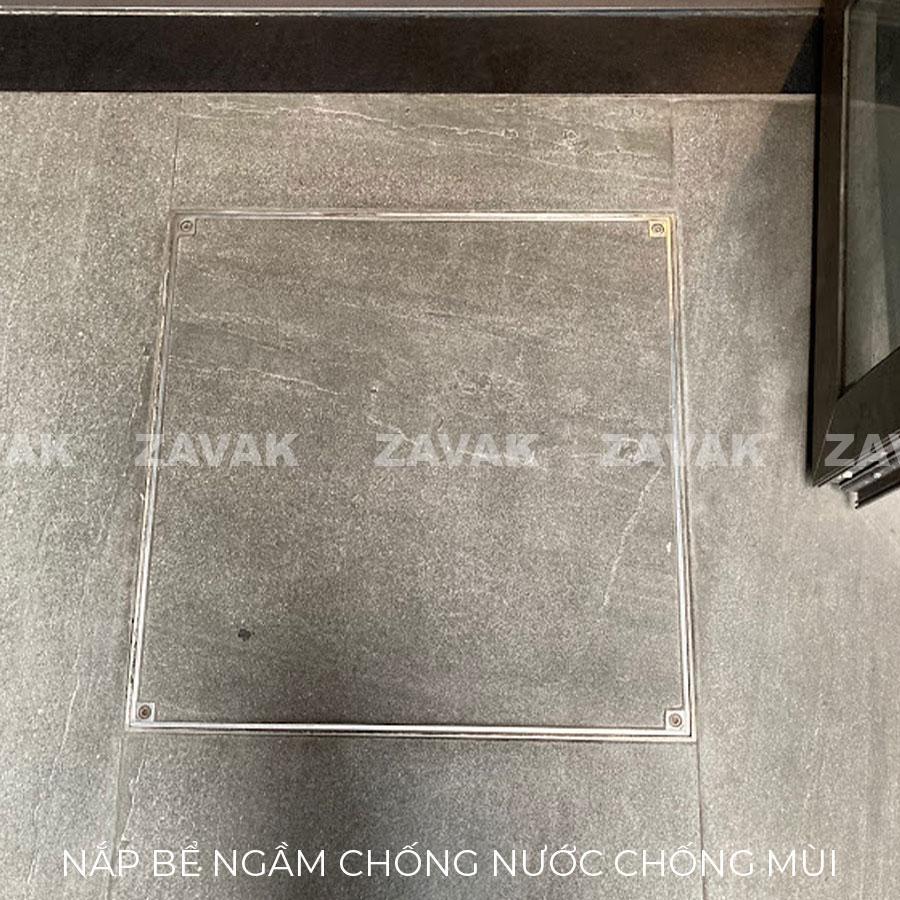 Nắp bể ngầm inox chống mùi Zavak lắp đặt tại nhà hàng Nhật Bản