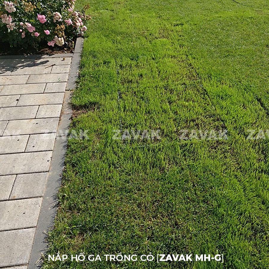 Nắp hố ga trồng cỏ inox ZAVAK MH-G Làm nắp đậy các loại hố kỹ thuật, hố ga ngoài vườn…tại các công trình cao cấp đòi hỏi tính thẩm mỹ và tiện dụng cao như biệt thự, các resort, khách sạn, công viên…