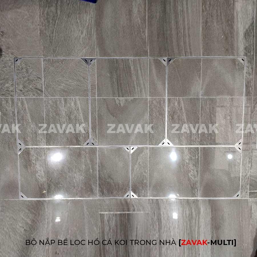 nắp bể lọc hồ cá koi, nắp bể cá koi kích thước lớn inox ZAVAK Multi