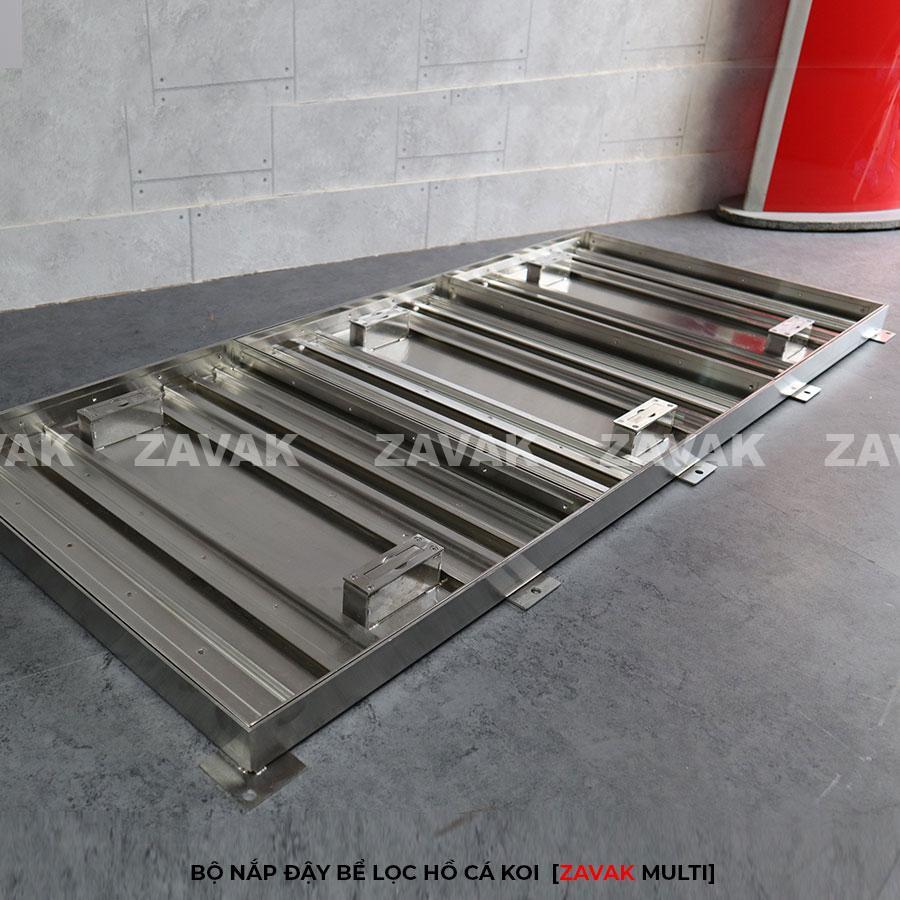 Bộ nắp bể lọc hồ cá koi inox 304 chống gỉ ZAVAK Multi