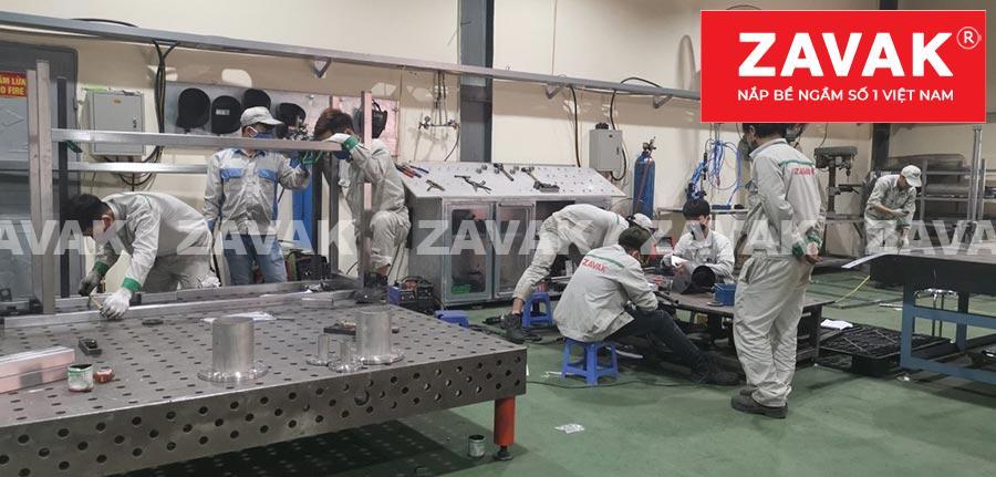 Sản xuất Nắp bể ngầm nắp bể âm sàn rãnh mương thoát nước inox âm sàn Zavak